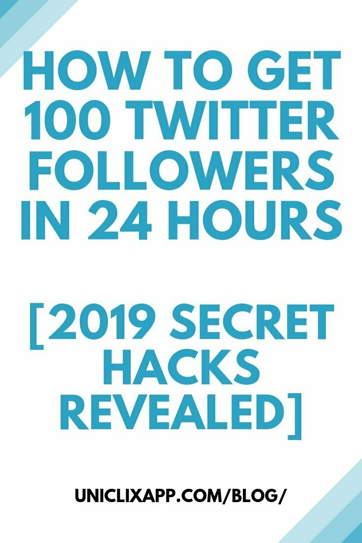 Get 100 Twitter Followers in 24 Hours