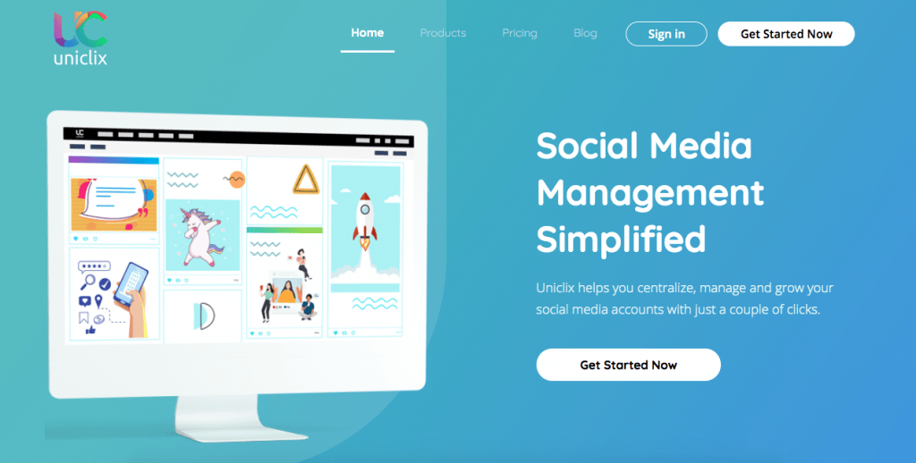 uniclix social media management