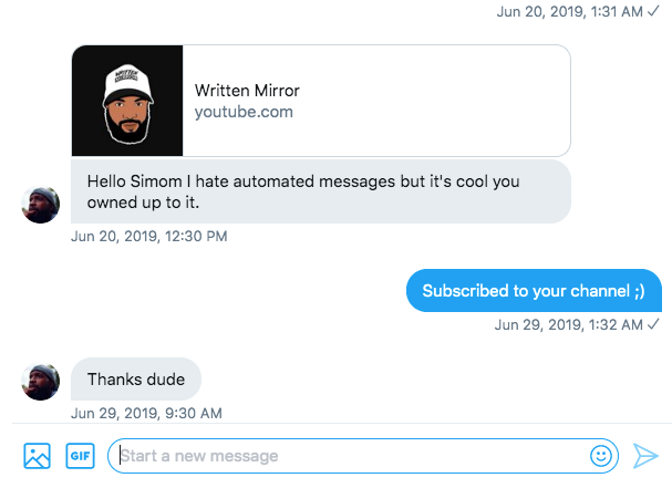 auto dms on twitter Uniclix