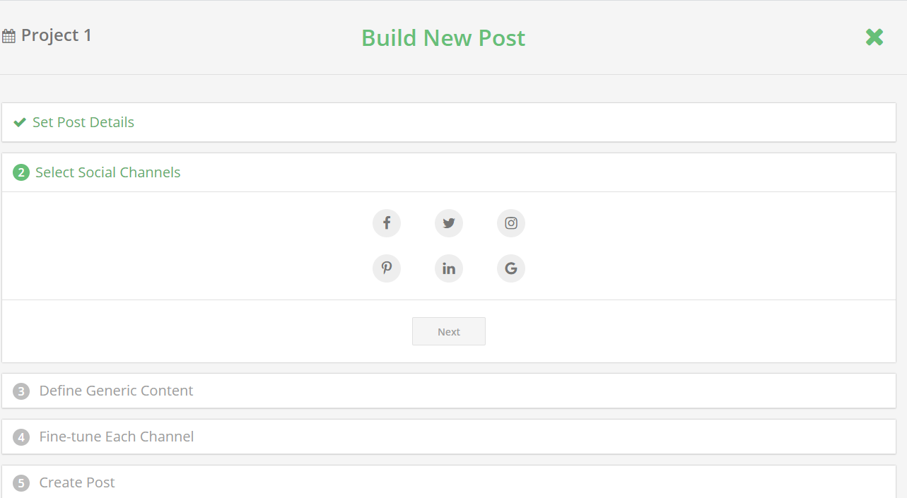 Loomly - Build New Post