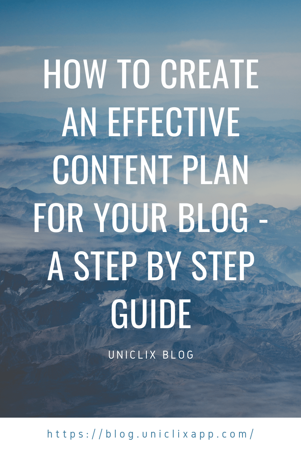 Effective content plan for your blog