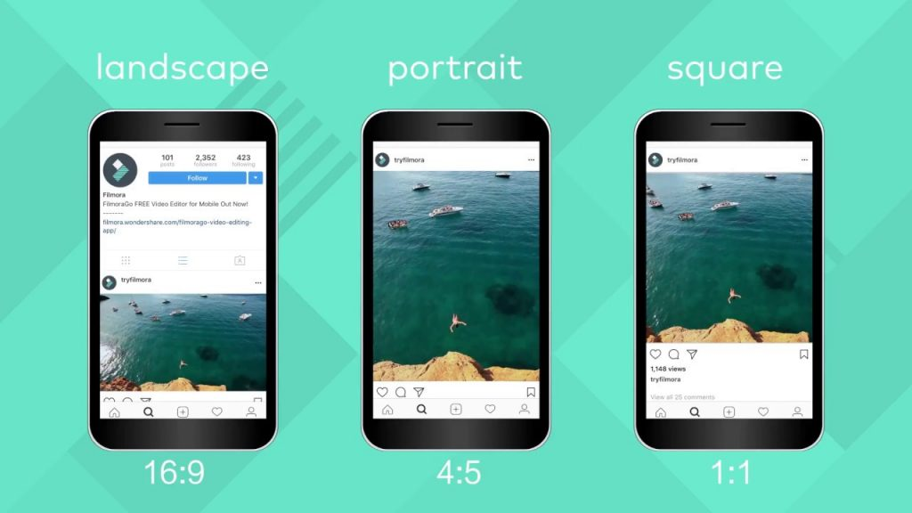 Instagram Image size - instagram square video 1:1