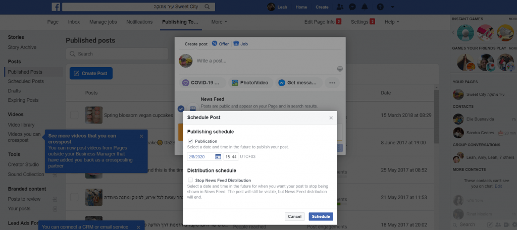Schedule Posts on Facebook  - step by step