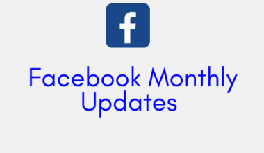 facebook monthly updates