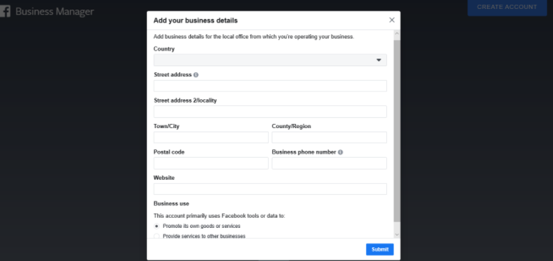 Facebook Business Manager Account setup