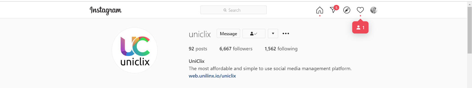 Uniclix Instagram Growth