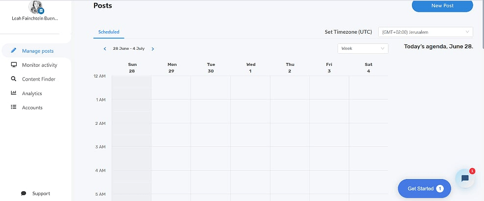 Schedule posts using Uniclix