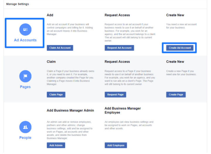 Facebook Business Manager - Add Accounts