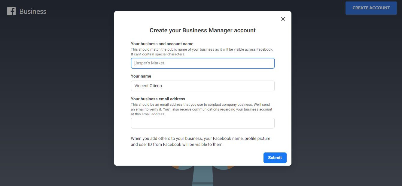 Facebook Business Manager Sign Up