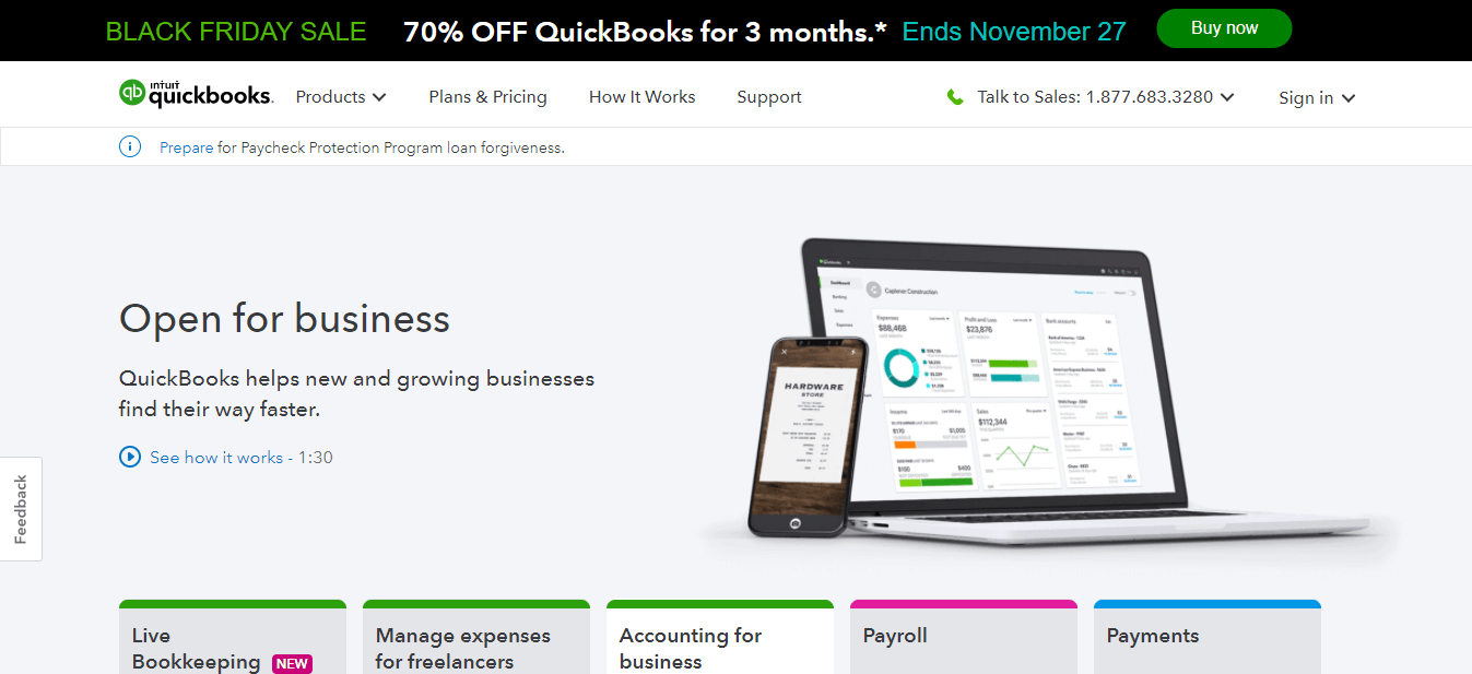 Quickbooks online log in
