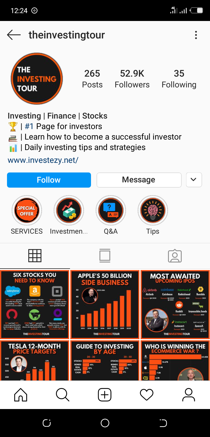 Business logo as an Instagram profile pic